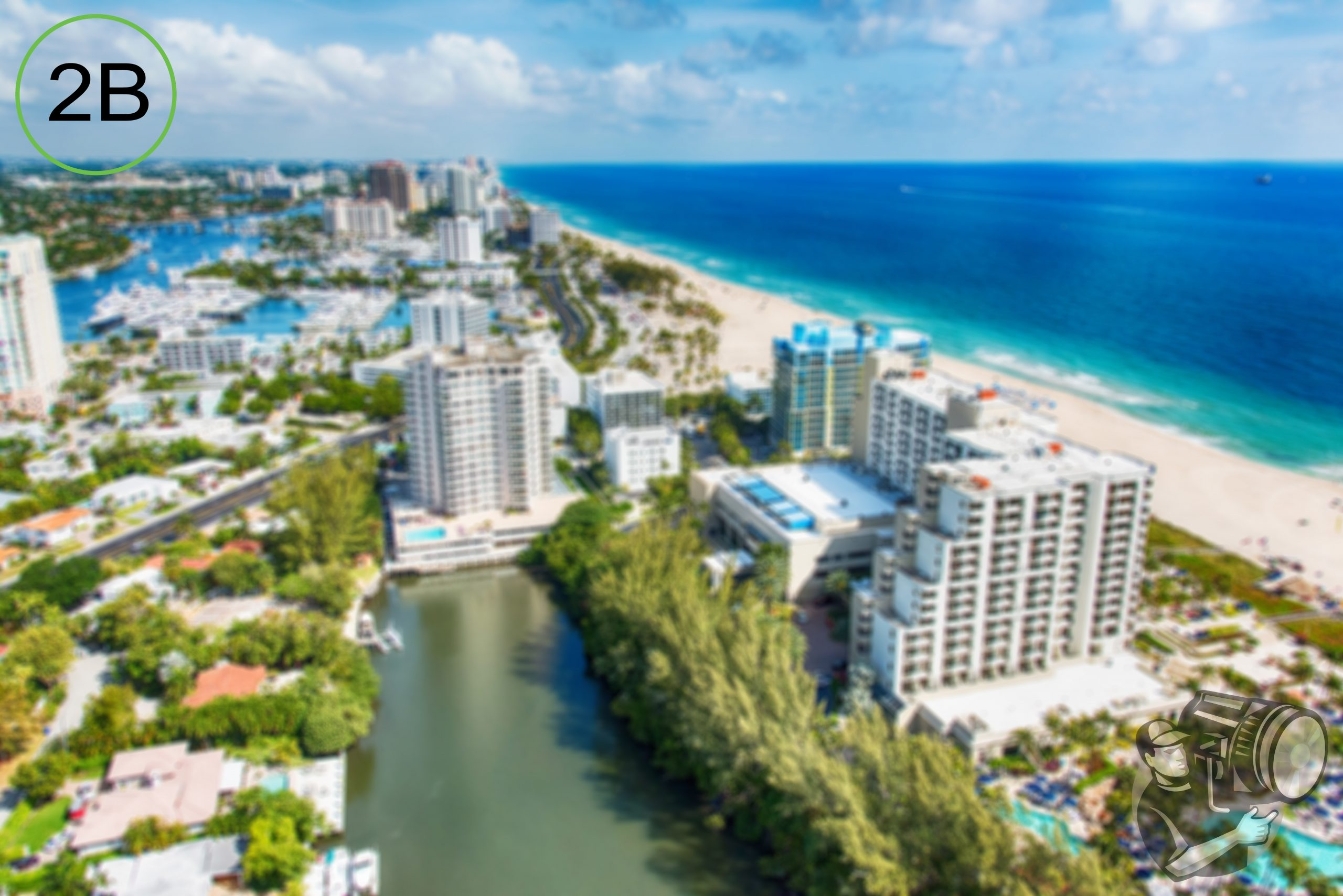 Aerial View of Ft. Lauderdale, Florida